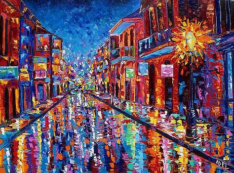 A Cool Night on Bourbon Street by Elaine Adel Cummins