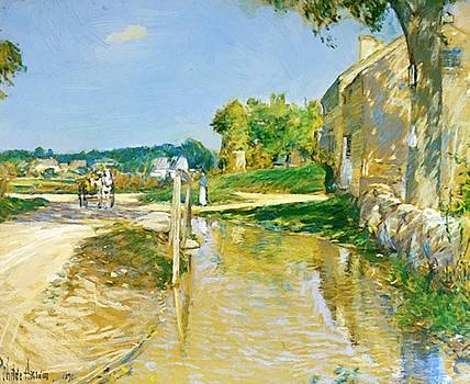 A Country Road by Hassam Childe