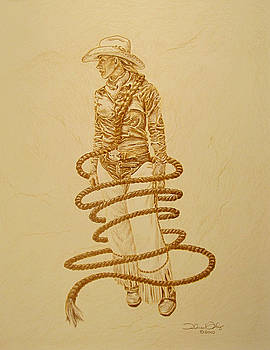 A Cowgirls Rope-Signed Prints Available by Theresa Higby