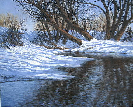 A Creek in Winter by Stephen Howell