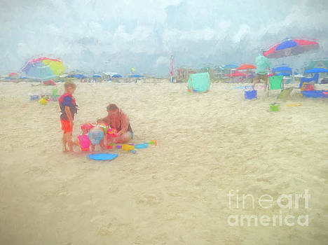 Kathleen K Parker - A Day at the Beach 2 Watercolor