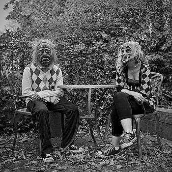 A Day At The Park - Masked Couple by Dylan Murphy