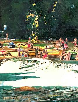A Day at the San Marcos River by Gary Springer