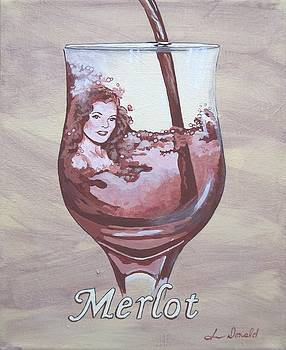 A Day Without Wine - Merlot by Jennifer  Donald