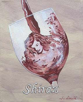 A Day Without Wine - Shiraz by Jennifer  Donald
