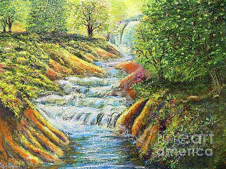 A Dazzling Waterfall Durng The Spring by Lee Nixon