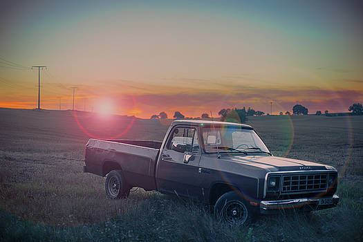 A Dodge At Sunset by Bastian Fischer