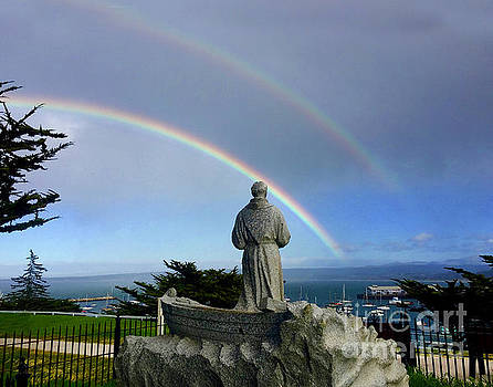 California Views Mr Pat Hathaway Archives - A double rainbow over the  Serra statue at Lower Presidio of Monterey 2018