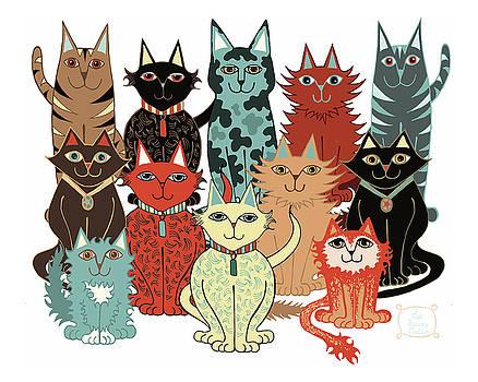 A Dozen Cats by Lisa Frances Judd