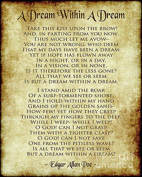 A Dream Within A Dream - Antique Parchment by Ginny Gaura
