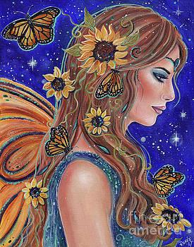 A drop of golden sun fairy by Renee Lavoie
