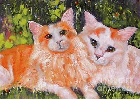 A Duet of Kittens by Susan A Becker