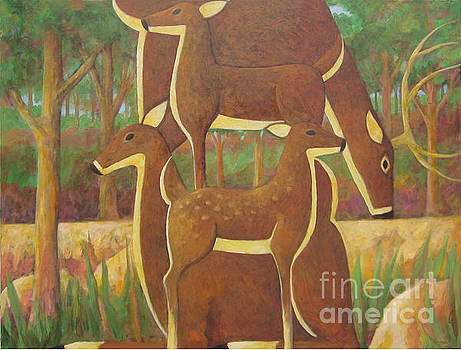 A Family of Deer by Glenn Quist