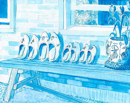 A Family of Wooden Shoes  by Vic Delnore
