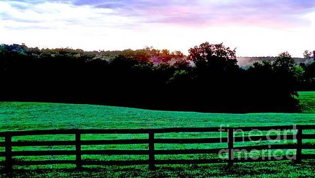 A Farm Sunrise by E Robert Dee