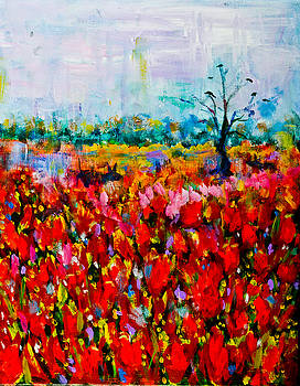 A Field of Flowers # 2 by Maxim Komissarchik