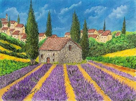 A Field of Lavender by Ralph Taylor