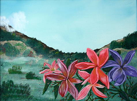 A Field of Plumeria by Julia Ellis
