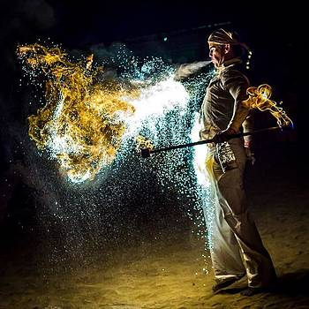 A Fire Breather On Saturday Night At by Jacob Avanzato