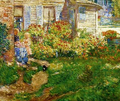 A Fisherman Cottage by Hassam Childe