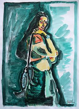 A Fisherwoman by Abin Raj