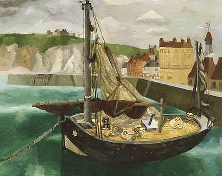 Wood Christopher - A Fishing Boat In Dieppe Harbour 1929