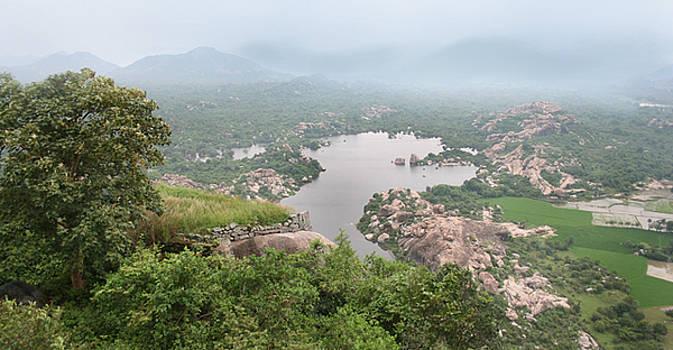 A foggy landscape by Arvind T Akki