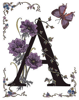 Stanza Widen - A for Anemone and Azure Streak Butterfly