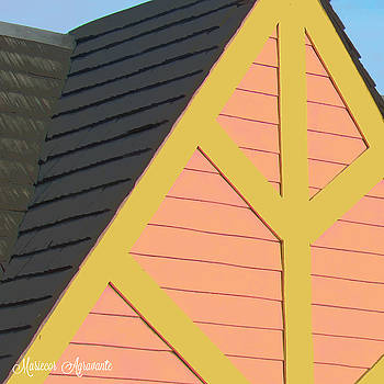 A-frame in Pastel Pink and Harvest Gold Yellow by Mariecor Agravante