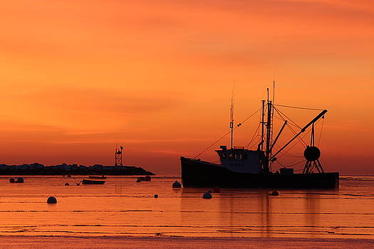 A Frigid Sunrise in Rye Harbor by Devin LaBrie