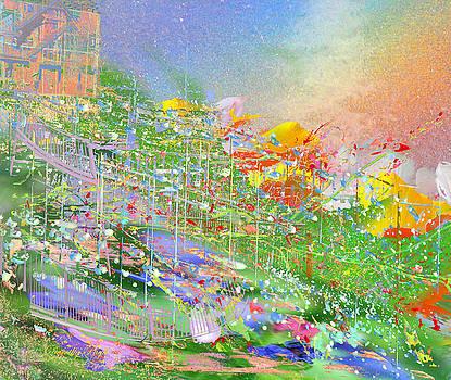 Dorothy  Pugh - A Garden on a Hill