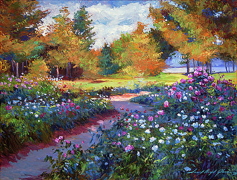 A Garden On The Hudson by David Lloyd Glover
