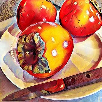 A Gift of Persimmons photo art by Mary Beth Harrison