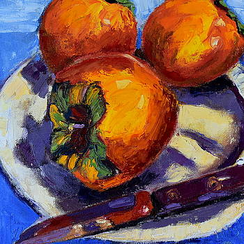 A Gift of Persimmons Palette Knife by Mary Beth Harrison