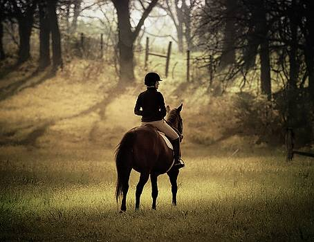 A Girl and Her Horse by Scott Fracasso