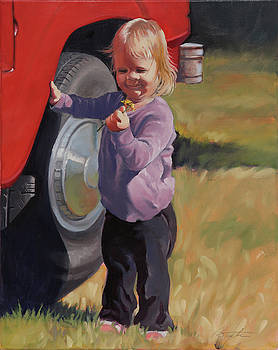 A Girl and Her Truck by Todd Baxter
