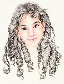 A Girl With Curls by Giora Eshkol