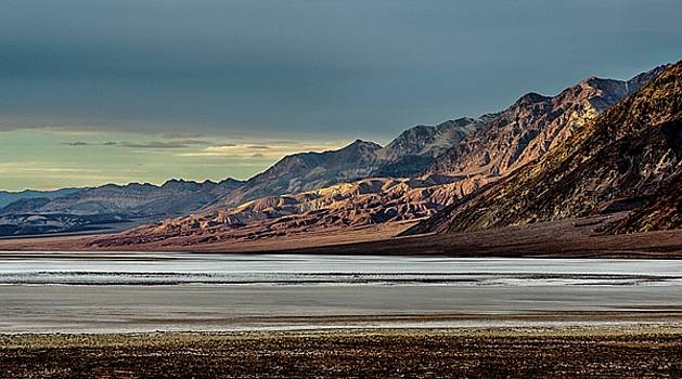 A glow on the Amargosa Range by Gaelyn Olmsted