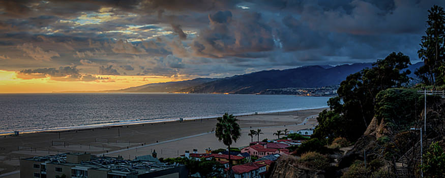 A Golden Evening Over Malibu - Panorama by Gene Parks