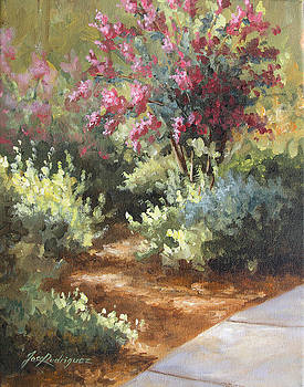 A Golden Walk by Jose Rodriguez