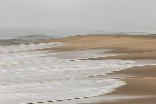 A Gray Day At The Beach Abstract by Dapixara
