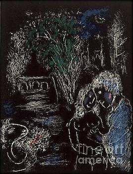 Marc Chagall - A Green Tree With Lovers