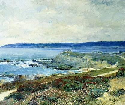 A Grey Day Carmel by Guy Rose