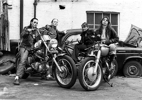 LAWRENCE CHRISTOPHER - A group of women associated with the Hells Angels, 1973.