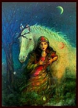 A Gypsy and Her Horse  by June Ponte