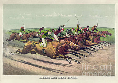 Currier and Ives - A Head and Head Finish