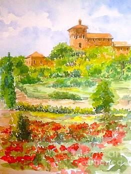 A Hillside near San Gimignano by Patsy Walton