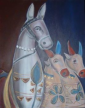 A Horse and Two Cows by Gayatri Manchanda
