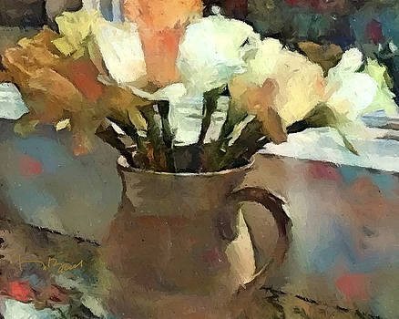 A Jug Full of Daffodils in Wall Colors by Don Berg