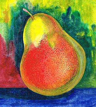A juicy pear by Val Stokes